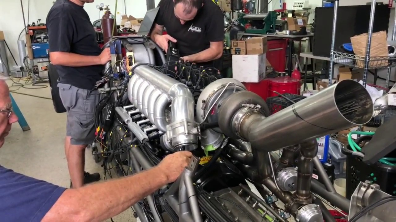1500HP 2JZ Land speed car takes its first breath