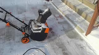 Обзор снегоуборщика электрического CARVER STE 2146 от ВЛАДЕЛЬЦА.