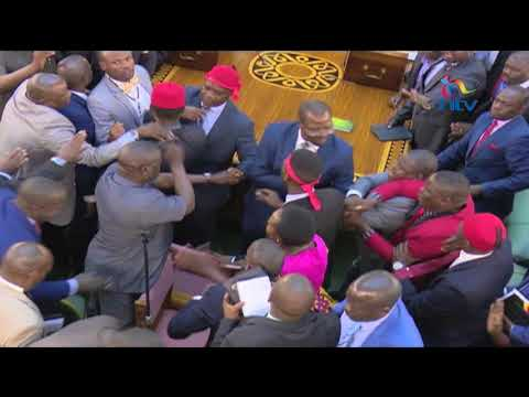 Uganda MPs fight in Parliament during presidential age limit