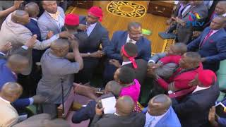 Видео Uganda MPs fight in Parliament during presidential age limit от NTV Kenya, Уганда