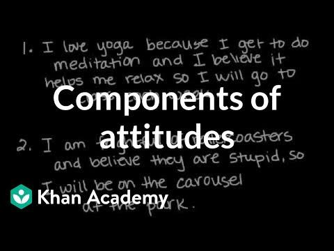 Components Of Attitudes | Behavior | MCAT | Khan Academy