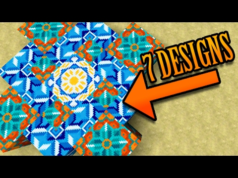 Cool Designs minecraft: 7 cool designs w/ new terracotta blocks - youtube