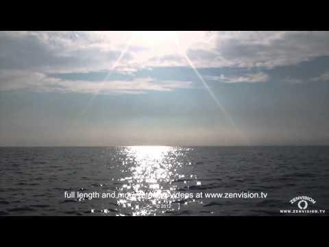 Twinkling stars on the sea. Hypnotic video.