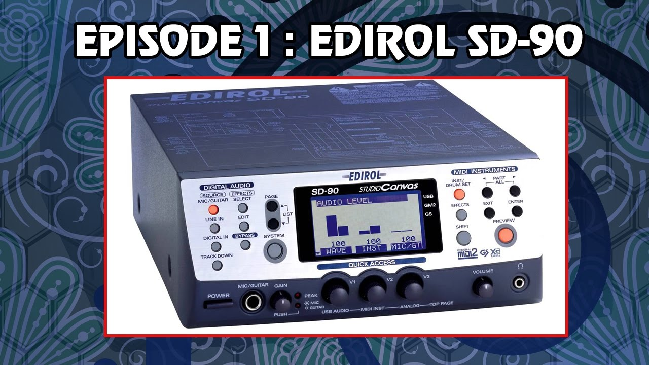EDIROL SD 90 DRIVERS FOR MAC DOWNLOAD