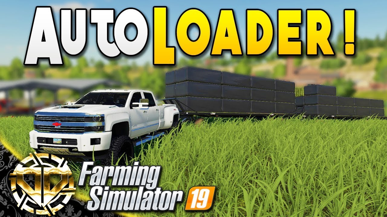 AUTOLOADER TRAILER : AUTOLOAD BALING MADE EASY : Farming Simulator 19  Gameplay : Ravenport EP 26