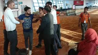 DIAL staff Assaulting passenger
