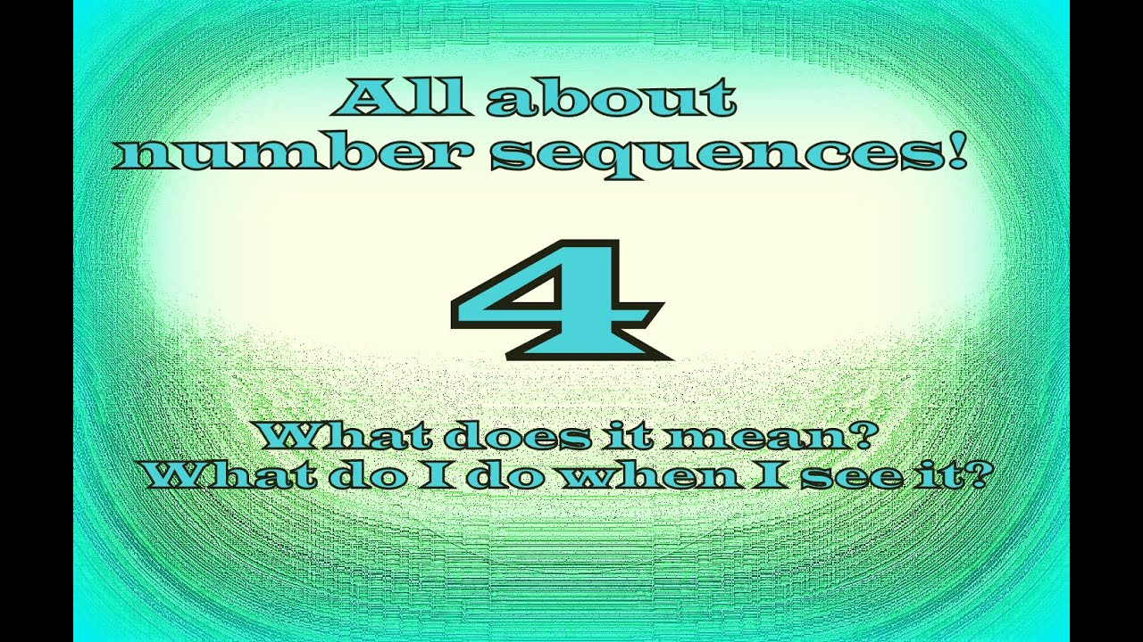 Seeing 444 What Does It Mean Number Sequences Part 6 Youtube