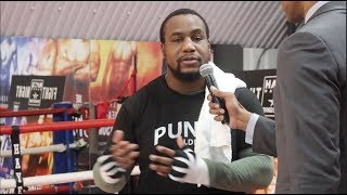 'IM GOING TO KNOCK HIM OUT' -HEAVYWEIGHT IAN LEWISON TELLS HIS PREDICTION FOR HIS FIGHT W/ JOY JOYCE