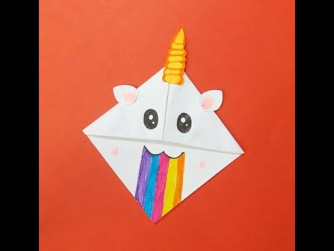 Easy kawaii unicorn bookmark | cute DIY
