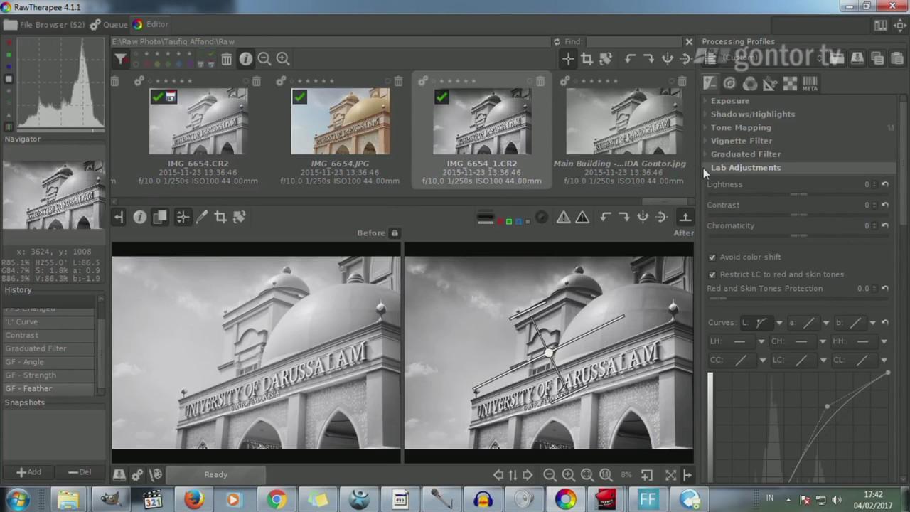 Tutorial RawTherapee untuk Pemula - Black & White Photo, High Contrast