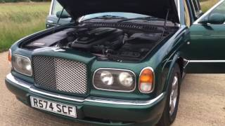 1998 BENTLEY ARNAGE FIRST YEAR BMW 4.4 V8 COSWORTH TWIN TURBO VIDEO REVIEW