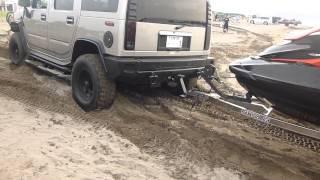 Car Sand Stuck HUMMER H2 ハマーH2 スタックしそうでしなーい!その2