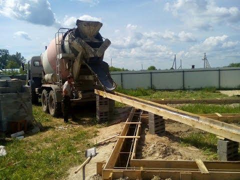 Дом.Начало строительства.Опалубка и заливка бетона.