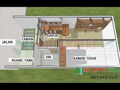 alternativ desain rumah sederhana di lahan yg sempit - youtube