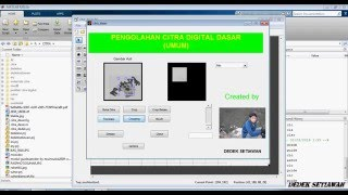 Cara Membuat Program pengolahan gambar menggunakan MATLAB