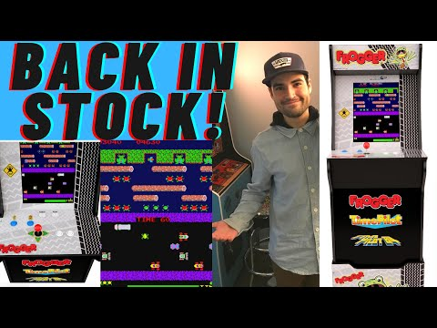ARCADE1UP FROGGER CABINET BACK IN STOCK 2021 from Brick Rod