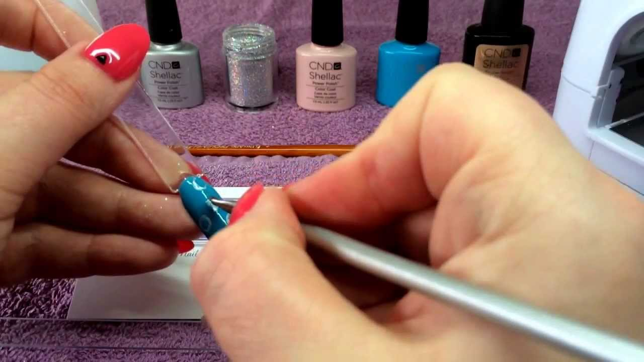Cnd shellac peekaboo rockstars nail art tutorial how to youtube prinsesfo Choice Image