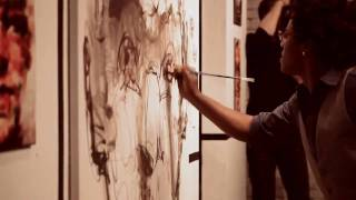yared nigussu - live painting | raw canvas live