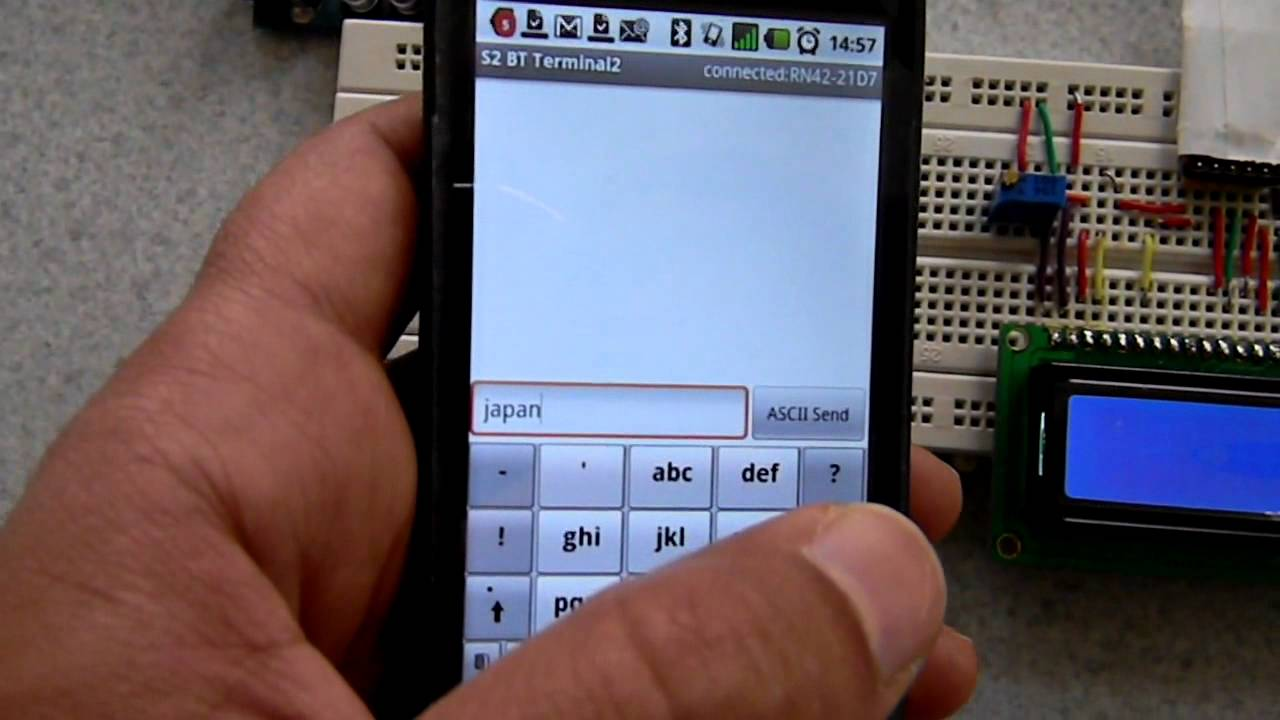 Bluetooth communication between android and arduino using