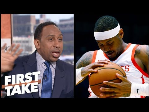 Stephen A.: 'No excuse' for Carmelo Anthony to come off the bench for Rockets | First Take | ESPN