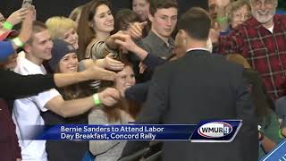 Sanders returning to NH on Labor Day