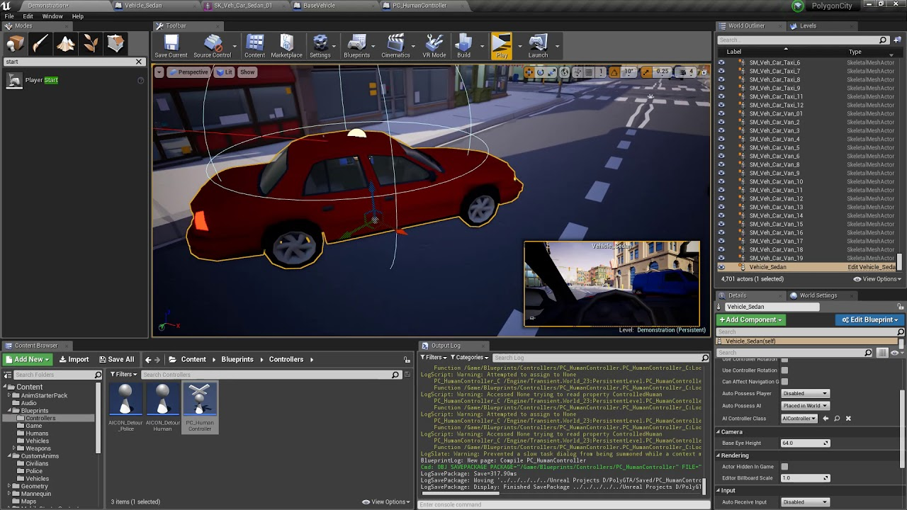 Making a vr gta style game with ue4 blueprints vehicle recap and making a vr gta style game with ue4 blueprints vehicle recap and vr touch steering malvernweather Gallery