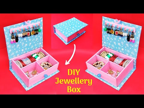 Jewellery Box making at home with waste cardboard | Best out of waste | DIY Bangle box