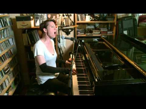 "AMANDA PALMER at home performing ""THE BED SONG"" Boston Herald Video"