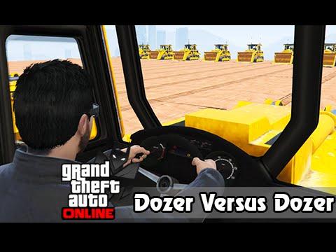 GTA V Online Versus #19: Dozer Vs Dozer #MontaNoAquário