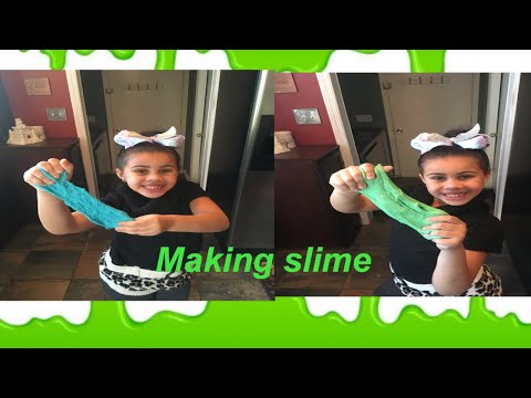 How to make flour and water slime. No glue