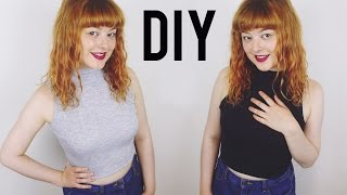 DIY High Neck Crop Top | Get Thready With Me #10