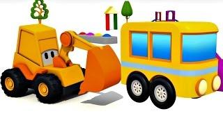 Animation für Kinder: Max der Bagger baut den Citybus!