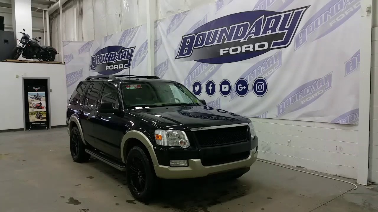 2010 Ford Explorer Eddie Bauer >> 2010 Ford Explorer Eddie Bauer W V8 Leather Sunroof Review Boundary Ford