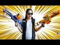 Nerf  War Games : Couple Police Nerf Guns Sneak Attack Squad Training Part 4