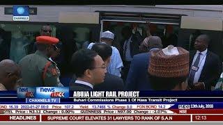 Buhari Launches Abuja Light Rail, Inspects Airport Terminal