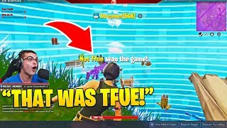 Nick Eh 30 Can't Believe How Smart Tfue Played This Pro Scrim! (Great End Game Trick)