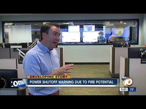 MORNING NEWS - Power Shutoff Warning Due To Santa Ana Winds