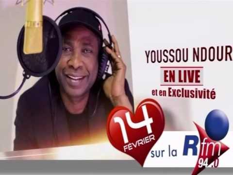 Concert Radiophonique de Youssou Ndour Sur La RFM(Speciel Saint-Valentin)