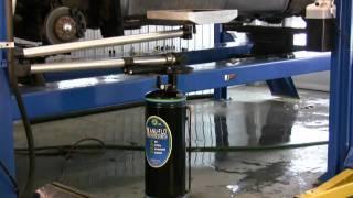 Fast & Quick Oil Change on Car Hoist