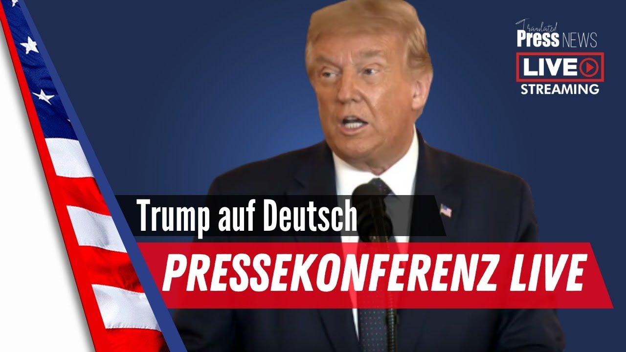 Wichtige News von Donald Trump live auf Deutsch übersetzt