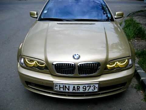 bmw e46 323ci welcome angel eyes yellow youtube. Black Bedroom Furniture Sets. Home Design Ideas