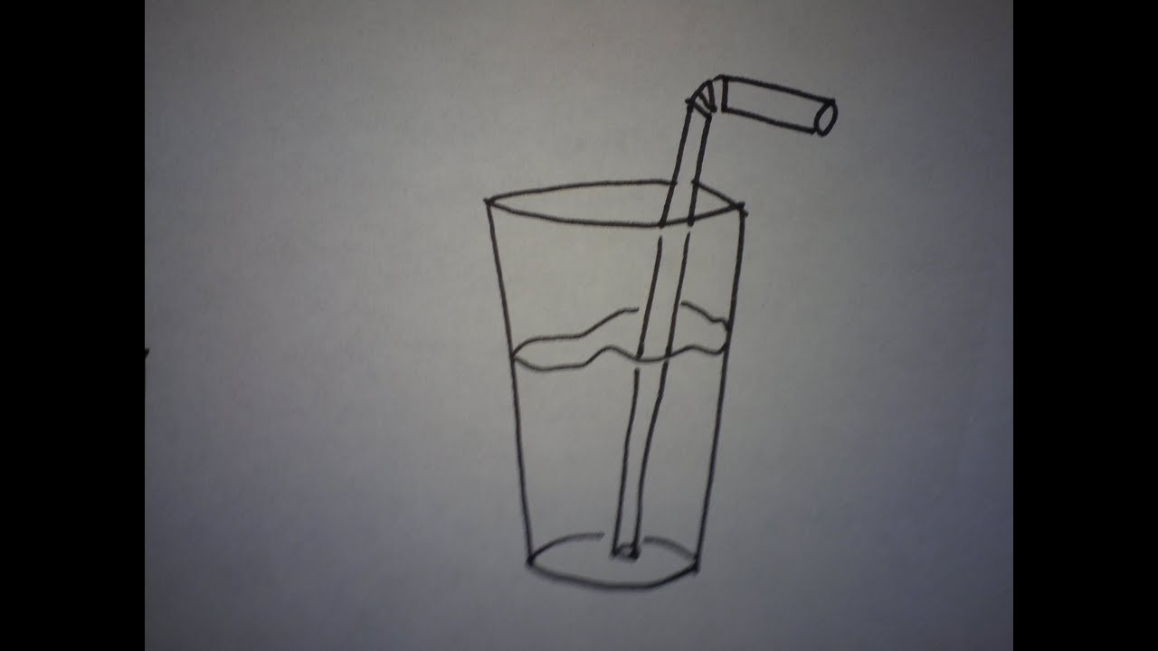 how to draw a glass on you tube