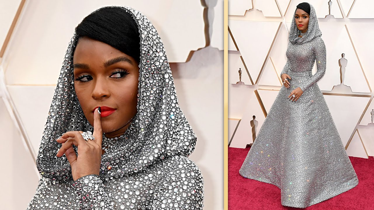 Janelle Monae Wears SEE-THROUGH Sparkling Gown | Oscars 2020