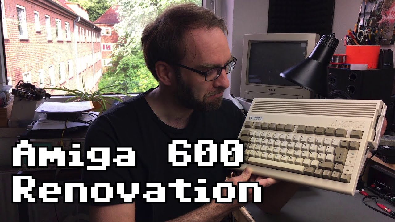 Amiga 600 Retrobright and SD Harddisk