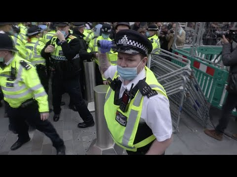 Batons Out As Police Clash With Anti-lockdown Protesters In London