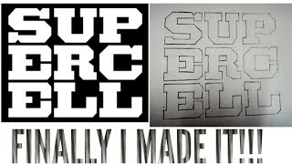 FINALLY I MADE SUPERCELL LOGO 🔥|CLASH OF CLANS|COC|HARDCORE GAMER HIMANSHU