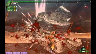 [MHF]岩鎧のなわばり・1麻痺剣笛3双剣・4ラスタ