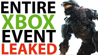 ENTIRE Xbox Series X Event LEAKED   New AAA Xbox Games   New Hardware