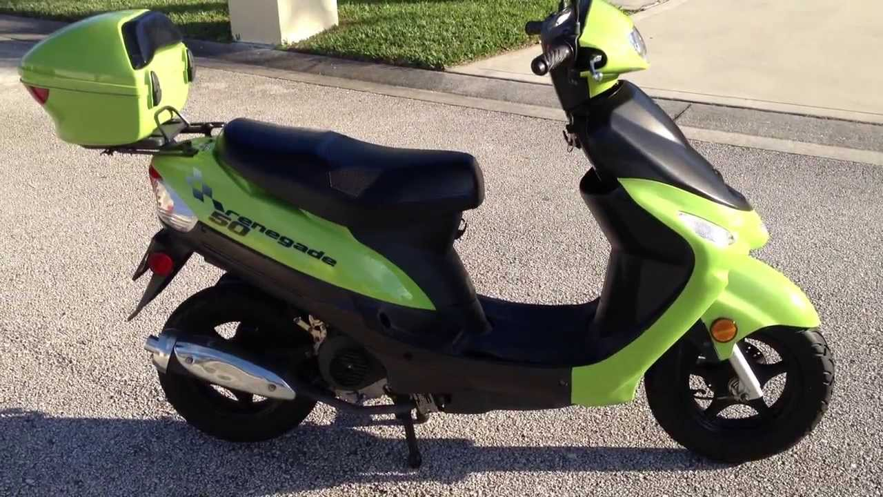 Renegade 50cc motor scooter for sale youtube for Where can i buy a motor scooter