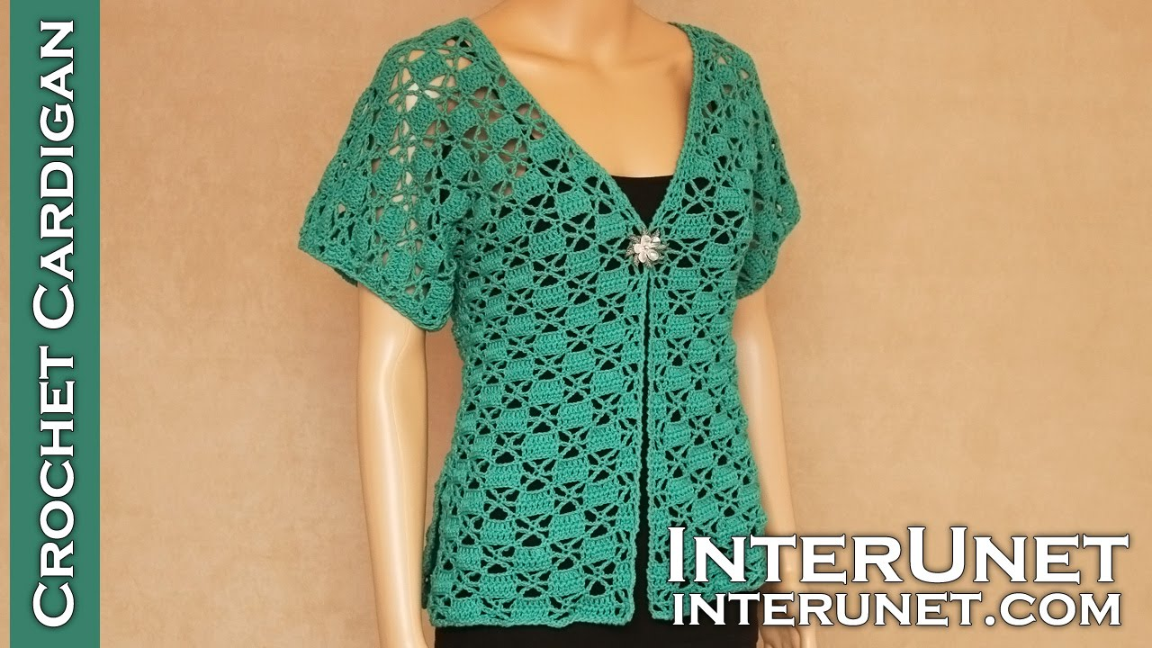 Crochet short-sleeve lace summer top – Green Zinnia cardigan ...